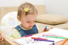 behandla som ett barn teckningen Royaltyfria Foton