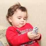 behandla som ett barn telefonen Royaltyfria Foton