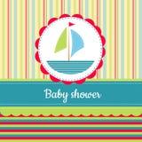 behandla som ett barn text för duschen för bakgrundskaninkortet gullig blom- Fotografering för Bildbyråer
