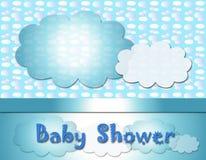 behandla som ett barn text för duschen för bakgrundskaninkortet gullig blom- Royaltyfria Foton