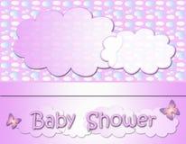 behandla som ett barn text för duschen för bakgrundskaninkortet gullig blom- Arkivfoton