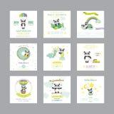 behandla som ett barn text för duschen för bakgrundskaninkortet gullig blom- Ankomsten behandla som ett barn kortet Behandla som  vektor illustrationer