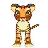 Behandla som ett barn Tiger Kitten Arkivfoto