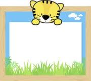 Behandla som ett barn tigern och förbigå brädet Arkivbilder