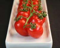 behandla som ett barn tomater Arkivfoto