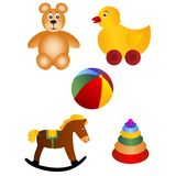 Behandla som ett barn toys stock illustrationer