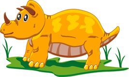 behandla som ett barn triceratopsen Arkivbild