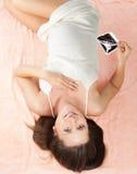 behandla som ett barn ultrasounden Royaltyfri Fotografi