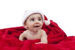 Behandla som ett barn väntande jul för pojken Royaltyfri Fotografi