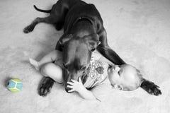 Behandla som ett barn vakten fotografering för bildbyråer