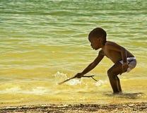 behandla som ett barn vatten Arkivfoton