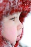 behandla som ett barn vintern Arkivbilder