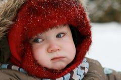 behandla som ett barn vintern Arkivfoto
