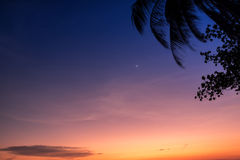 behandlad plats skjuten solnedgång för exponeringshdr long Royaltyfri Fotografi