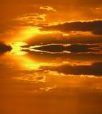 behandlad solnedgång Arkivbilder