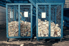 behandlande avfalls för växt Teknologisk behandling Återvinning och lagring av avfalls för ytterligare förfogande Affär för att s Royaltyfria Foton