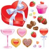 behandlar valentinen stock illustrationer
