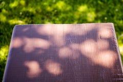 Behandlat trä i solljus fotografering för bildbyråer