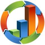 behandling för graf för stång 3d Arkivfoto