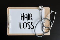 behandling för medicin för haircare för alopeciluftförlust skallig, hårförlust royaltyfri illustrationer