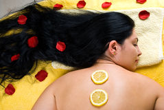 behandling för omsorgshudbrunnsort Fotografering för Bildbyråer