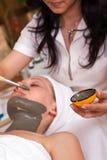 behandling för skönhetomsorgsframsida Royaltyfri Foto