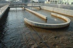 behandlingwastewater Arkivfoton
