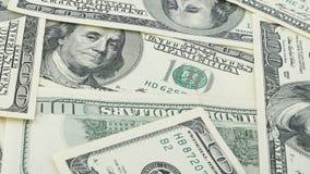 Behang achtergrondclose-up Amerikaans geld honderd dollarsrekening Vele het bankbiljet van de V.S. 100 Royalty-vrije Stock Afbeeldingen