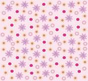 Behang met bloemen Royalty-vrije Stock Foto's