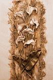 Behang met bloemen Stock Foto's