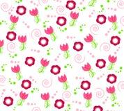 Behang met bloemornamenten stock fotografie