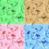 Behang met butterflys. Royalty-vrije Stock Foto's