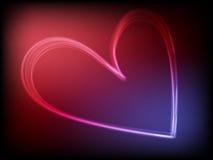 Behang met een twee-gekleurd hart Royalty-vrije Stock Foto
