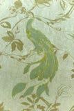 Behang met fabelachtige vogel, Stock Afbeelding