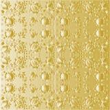 Behang met gouden bloemen Stock Fotografie