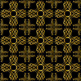 Behang met gouden patroon Stock Afbeelding
