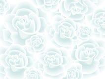 Behang met witte rozen vector illustratie