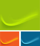 Behang van groene, blauwe, oranje bac van golvengevolgen stock illustratie