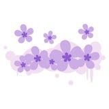 Behang van het van de achtergrond bloem plaatst het bloemenstof illustratieontwerp uw bericht uit elkaar Stock Foto