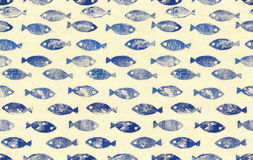 Behang van het vissen het naadloze patroon Stock Fotografie