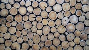 Behang van houten logboeken stock fotografie