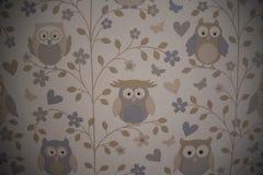 Behang van uilen royalty-vrije stock foto