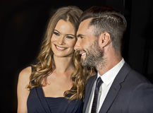 Behati Prinsloo and Adam Levine Royalty Free Stock Photography