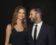 Behati Prinsloo and Adam Levine Royalty Free Stock Images