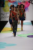 Behati Prinsloo (c) walks the runway at the Desigual fashion show during Mercedes-Benz Fashion Week Stock Image