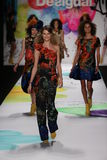 Behati Prinsloo (c) walks the runway at the Desigual fashion show during Mercedes-Benz Fashion Week Stock Photo