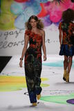 Behati Prinsloo walks the runway at the Desigual fashion show during Mercedes-Benz Fashion Week Fall 2015 Stock Image