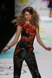 Behati Prinsloo walks the runway at the Desigual fashion show during Mercedes-Benz Fashion Week Fall 2015 Royalty Free Stock Images