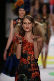 Behati Prinsloo walks the runway at the Desigual fashion show during Mercedes-Benz Fashion Week Fall 2015 Stock Photo