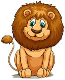 Behaved brown lion Royalty Free Stock Photos